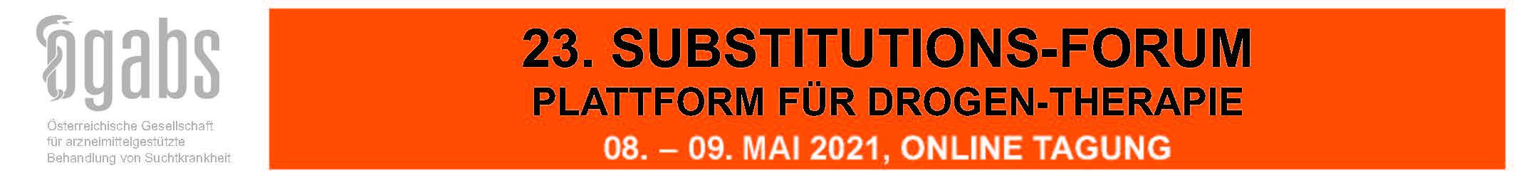23. Substitutions-Forum – Plattform für Drogentherapie (Online Tagung)